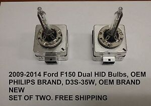 FORD F150 RH/LH XENON HID HEADLAMP HEADLIGHT BULBS 2009-2014