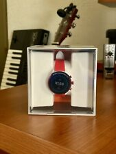 NEW Fossil Sport Smartwatch 41MM Red White Silicone FTW6052