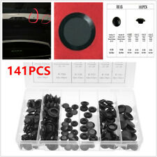 141PCS Car Body Plastic Plug Button Flush Mount Sheet Metal Plug Assortment 3/8""