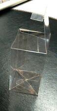 10 x Transparent Box Klarsicht Falt-Schachtel Verpackung Dose Plastik faltbar
