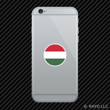 Round Hungarian Flag Cell Phone Sticker Mobile Hungary HUN