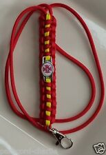 """Fire Fighter """"Generic Department Emblem"""" Red with Yellow Line Paracord Lanyard"""