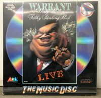 Warrant 1990 Dirty Rotten Filthy Stinking Rich Live US LD Laserdisc Hair Metal