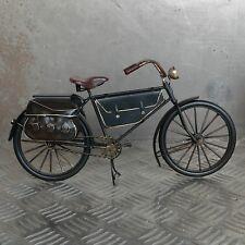XL Blechmodell Fahrrad 31cm schwarz Metallmodell Bike Rad Blech Metall Oldtimer