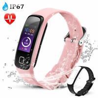 AGPTEK Fitness Tracker Watch Waterproof Sport Blood Pressure Smart Watch Pink