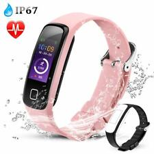 AGPTEK Fitness Tracker Watch Heart Rate Monitor Sports Fitbit Smart Watch Pink