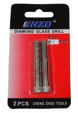 2 fraises trépan scie coupe pour couper verre vitre vitrier 8mm  - C2903
