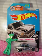 2016 Hot Wheels BMW 2002 #186☆Walmart Exclusive ZAMAC; blue rim mc5 spoke☆