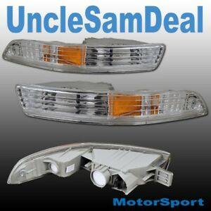 98-01 ACURA INTEGRA EURO CLEAR LENS CORNER SIGNAL BUMPER LIGHTS PAIR