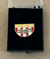 VINTAGE 1988 MLB LOS ANGELES DODGERS WORLD SERIES BASEBALL PRESS PIN with CASE