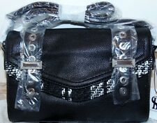 Snob Essentials Tote Black/White Tweed Combo NWT handbag purse