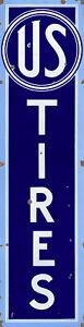 US TIRES ADVERTISING METAL SIGN