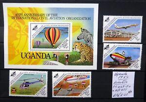 UGANDA 1984 Aviation As Described U/M SALE NM418