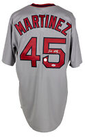 Pedro Martinez Signed Red Sox Grey Majestic Cooperstown Jersey PSA/DNA Hologram