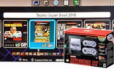 Genuine Nintendo SNES Classic Super NES HACKED PRO MODDED TECMO SUPER BOWL 2018