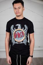 Oficial Slayer Silver Eagle Unisex T-Shirt municiones Calavera Sombrero demonio tormenta