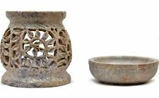 """Artist Haat 4"""" Hand Crafted Stone Aroma Diffuser Oil Burner Home & Weding Décor"""