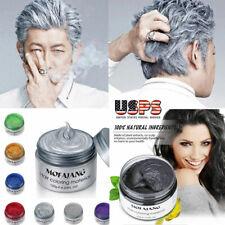 Colorful Silver Grey Hair Wax Men Women DIY Temporary Dye Mud styling Maker US