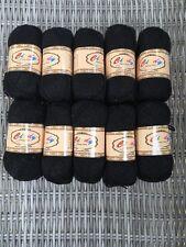 10 X 50g Cindy Fancy Yarn Dk Sparkle Knitting Wool Yarn Colour Black