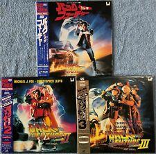 """NM Laserdisc"" Back to the Future I II III 3 Set Japan 1 2 3 Michael J Fox"