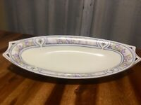 Vintage Deco German Hand Painted Hutschenreuther Bavaria Selb Celery Dish Plate