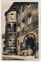 Ansichtskarte Regensburg - Blick auf die Porta Prätoria - schwarz/weiß