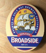 Adnams Broadside plastic beer pump clip