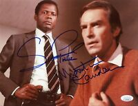 SIDNEY POITIER &MARTIN LANDAU Hand-Signed THEY CALL ME MR.TIBBS 8.5x11 Photo JSA