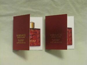 Versace 'Eros Flame' For Men Pour Homme Perfume 2x Spray Vials NEW