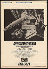 STARFLIGHT ONE__PLANE THAT COULDN'T LAND__Orig. 1982 Trade AD poster__LEE MAJORS