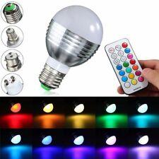 E27/B22/GU10/E14 9W RGBW LED Light Color Changing Lamp Bulb + Remote AC 85-265V