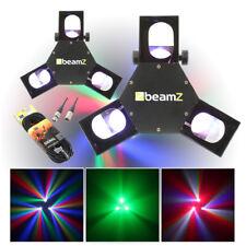 2x Tri Lamp Mirror Scanner Disco Lights + 2x DMX Cables Party DJ Lighting
