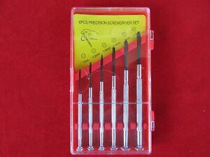 Feinmechaniker Schraubendreher Set Schraubenzieher mini Uhrmacherwerkzeug  6tlg