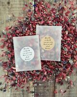 Wedding Confetti Pack in GLASSINE bag - Biodegradable and Nautral- READY TO USE