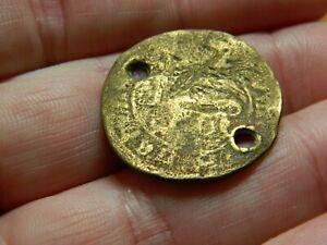 Medieval bronze jetton token pilgrims badge St Mark Thames detecting detector