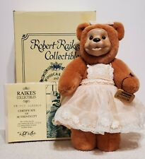 "Robert Raikes Collectibles - Orange Blossom Bear, LE 500, 11"", Plush, BOX & COA"