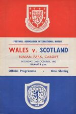 Oct 62 Wales v Scotland