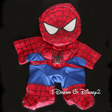 Build-A-Bear SPIDER MAN COSTUME w PADDED CHEST & MASK Retired Teddy Outfit