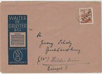 Germany 1949 Berlin Overprint BerlinW Cancel Gruyer Slogan Stamps Cover Ref24072