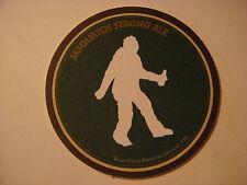 Beer Bar Coaster ~ WILD DUCK Brewery Sasquatch Ale ~ Eugene, OREGON ** 1996-2004