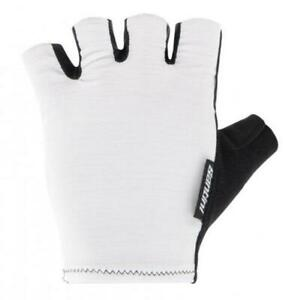 Cubo 2021 Cycling Gloves by Santini - in White - Made in Italy
