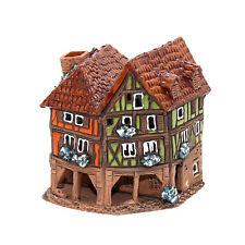 cerámica casa de velas Casita para Portavelas madera Rendondo 9,5 cm 40552