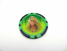 "WWE Topps Diva ""Kelly Kelly"" Power Chipz 2011 (1.5"") Green Poker Chip #66 *New"