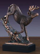 White Tail Buck  7 x 7  Stunning Beautiful Bronze Statue / Sculpture Brand New