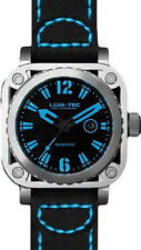 Lum-Tec Watch G5 Blue Mens Black Leather Limited Edition AUTHORIZED DEALER