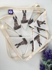 hare bunting,garland, For Hare Lovers, Hare Decor, Hare Gift