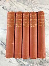 "circa 1890 Antique History Books ""The History of England"" Macaulay"