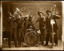 KING CARTER JAZZING BAND 1920's Houston Texas 8x10 Restored Photograph