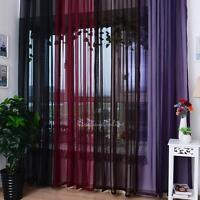 Voile Tulle Door Window Curtain Balcony Drape Panel Sheer Scarfs Valances 1*2m