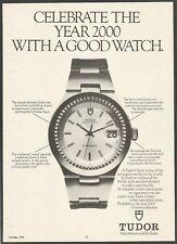 TUDOR OYSTER - Sold and serviced by Rolex - 1978 Vintage Watch Print Ad
